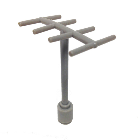 Lego Parts: Antenna with Side Spokes (3144 - Old Light Gray)