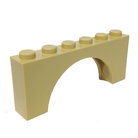 Lego Parts: Brick, Arch 1 x 6 x 2 - Thick Top with Reinforced Underside (4114073 - 3307)