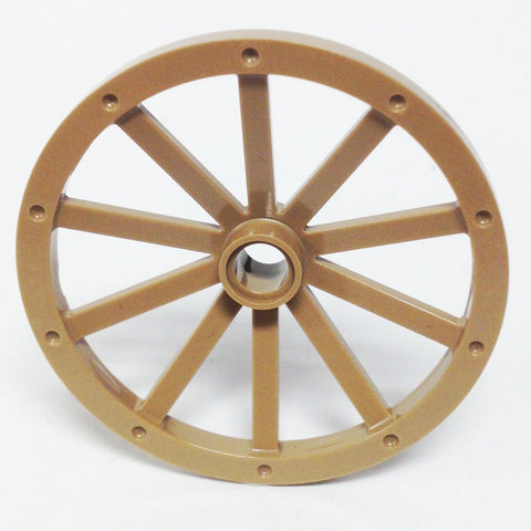 Lego Parts: Wheel Wagon Huge (43mm Diameter) (Dark Tan)