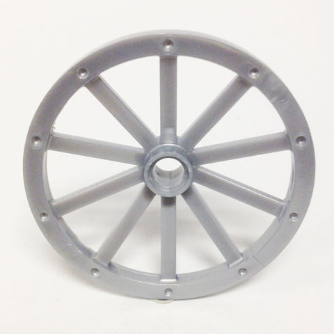 Lego Parts: Wagon Wheel - Huge 43mm Diameter (Pearl Light Gray)