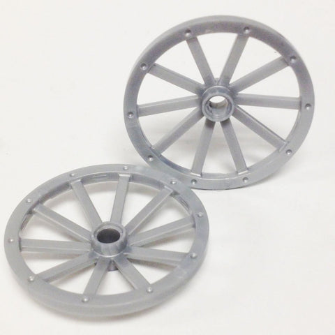 Lego Parts: Wagon Wheel - Huge 43mm Diameter (PACK of 2 - Pearl Light Gray)