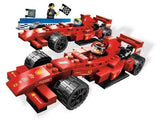 Lego Parts: Vehicle, Steering Stand 1 x 2 with Black Steering Wheel (PACK of 6 - Red)