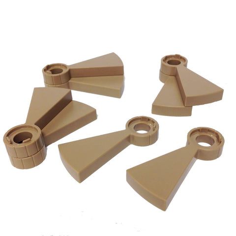 Lego Parts: Stairs Spiral Step (PACK of 8 - DarkTan)