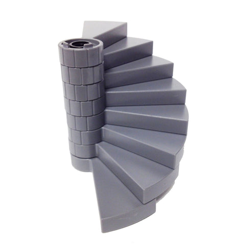 "Lego Parts: Staircase Bundle - ""(1) SUPPORT AXLE 1 x 1 x 5 1/3 - Black"" ""(8) SPIRAL STEPS - DBGray"""