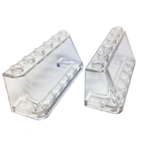 Lego Parts: Windscreen 2 x 6 x 2 (PACK of 2 - Transparent Clear)