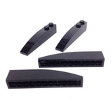 Lego Parts: Slope, Curved 6 x 1 (PACK of 4 - Black)