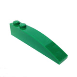 Lego Parts: Slope, Curved 6 x 1 (Green)