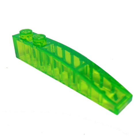 Lego Parts: Slope, Curved 6 x 1 (Trans. Bright Green)