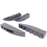Lego Parts: Slope, Curved 6 x 1 Inverted (PACK of 4 - DBGray)
