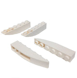 Lego Parts: Slope, Curved 6 x 1 Inverted (PACK of 4 - White)
