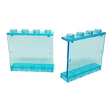 Lego Parts: Panel 1 x 4 x 3 - Hollow Studs (PACK of 2 - Transparent Light Blue)