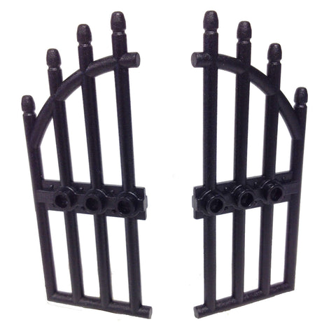 Lego Parts: Door 1 x 4 x 9 Arched with Bars and Three Studs (Black)