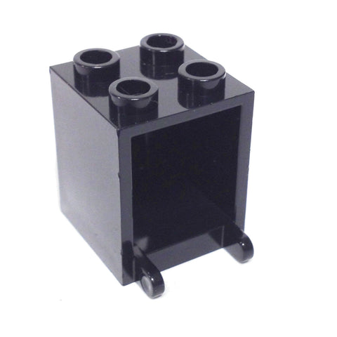 Lego Parts: Container, Box 2 x 2 x 2 (Black)