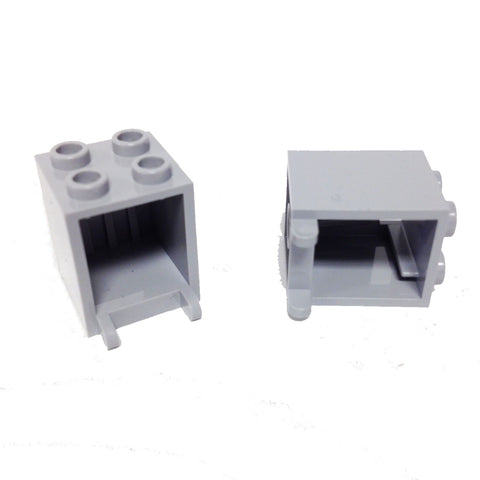 Lego Parts: Container, Box 2 x 2 x 2 (PACK of 2 - LBGray)