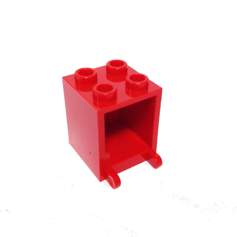 Lego Parts: Container, Box 2 x 2 x 2 (Red)