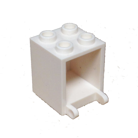 Lego Parts: Container, Box 2 x 2 x 2 (White)