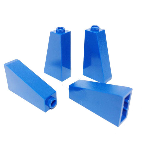 Lego Parts: Slope 75° 2 x 1 x 3 - Hollow Stud (PACK of 4 - Blue)