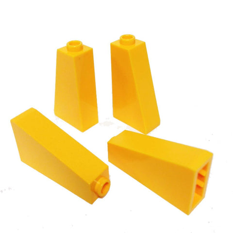 Lego Parts: Slope 75° 2 x 1 x 3 - Hollow Stud (PACK of 4 - Bright Light Orange)