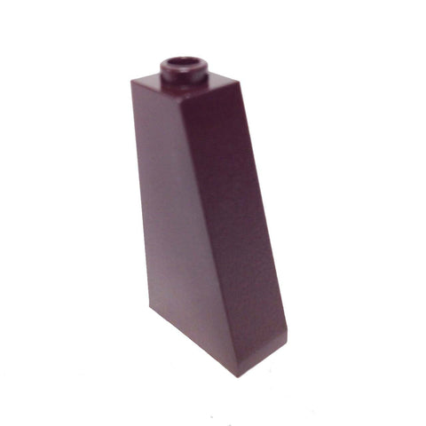 Lego Parts: Slope 75° 2 x 1 x 3 - Hollow Stud (Dark Brown)