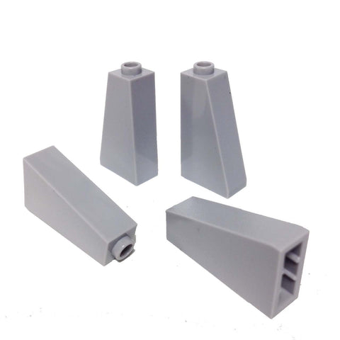 Lego Parts: Slope 75° 2 x 1 x 3 - Hollow Stud (PACK of 4 - LBGray)