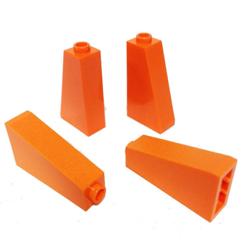 Lego Parts: Slope 75° 2 x 1 x 3 - Hollow Stud (PACK of 4 - Orange)