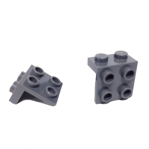 Lego Parts: Bracket 1 x 2 - 2 x 2 (PACK of 2 - DBGray)