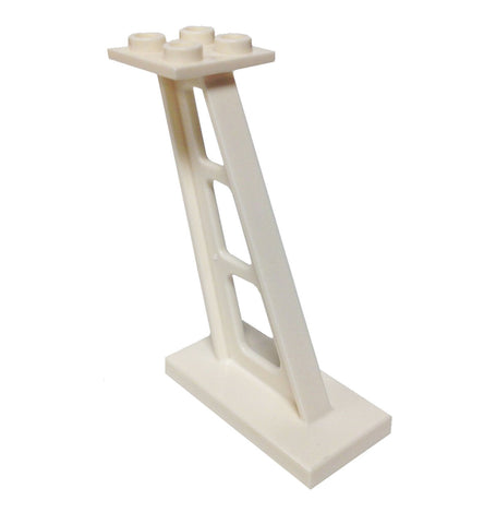Lego Parts: Support 2 x 4 x 5 Stanchion Inclined, 5mm wide posts (White)