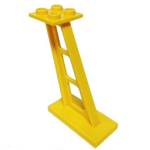 Lego Parts: Support 2 x 4 x 5 Stanchion Inclined, 5mm wide posts (Yellow)