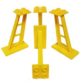 Lego Parts: Support 2 x 4 x 5 Stanchion Inclined, 5mm wide posts (PACK of 4 - Yellow)