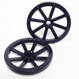 Lego Parts: Wagon Wheel - Large 33mm Diameter (PACK of 2 - Black)