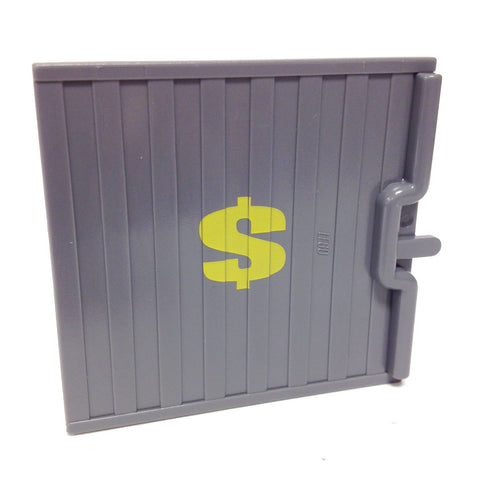 Lego Parts: Door Sliding - Type 1 with Yellow Dollar Sign (DBGray)
