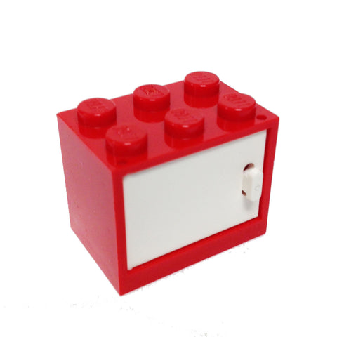 Lego Parts: Container, Cupboard 2 x 3 x 2 With Door (Red)