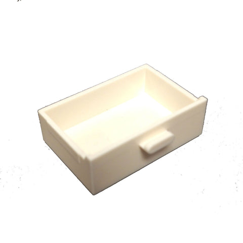 Lego Parts: Container, Cupboard 2 x 3 Drawer (White)