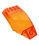 Lego Parts: Windscreen 10 x 6 x 2 Curved (Transparent Orange)