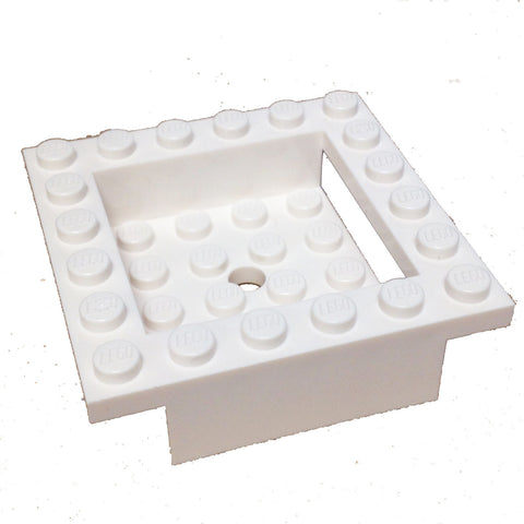 Lego Parts: Cockpit 6 x 6 x 1 Cabin Base (White)