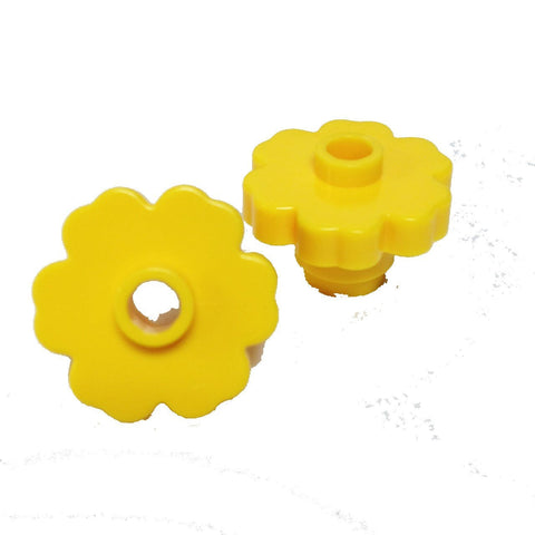Lego Parts: Plant Flower 2 x 2 - Rounded Open Stud (PACK of 2 - Yellow)