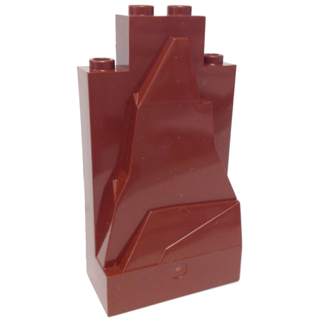 Lego Parts: Rock Panel 2 x 4 x 6 (Reddish Brown)