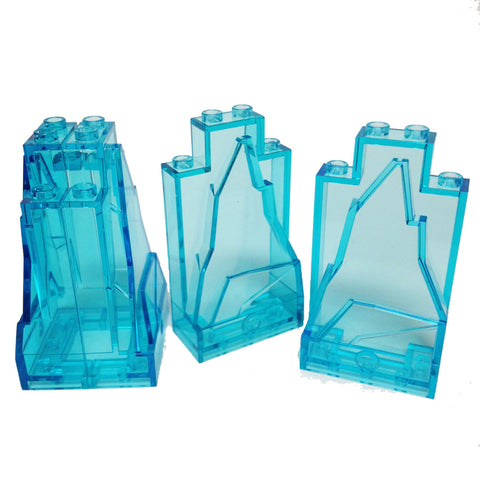 Lego Parts: Rock Panel 2 x 4 x 6 (PACK of 4 - Transparent Light Blue)