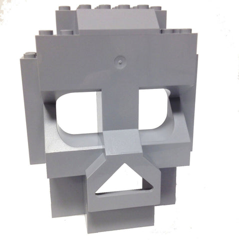 Lego Parts: Rock Panel Skull 4 x 10 x 10 (Light Bluish Gray)