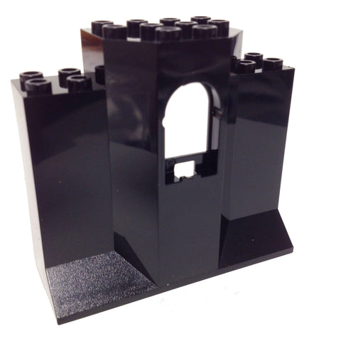 Lego Parts: Panel 3 x 8 x 6 with Window (Black)
