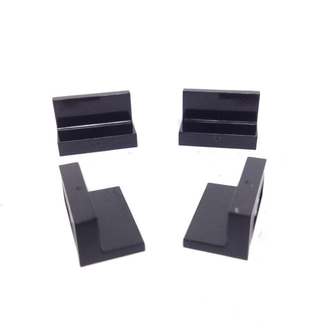 Lego Parts: Panel 1 x 2 x 1 (PACK of 4 - Black)