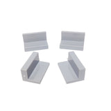 Lego Parts: Panel 1 x 2 x 1 (PACK of 4 - LBGray)