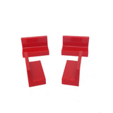 Lego Parts: Panel 1 x 2 x 1 (PACK of 4 - Red)