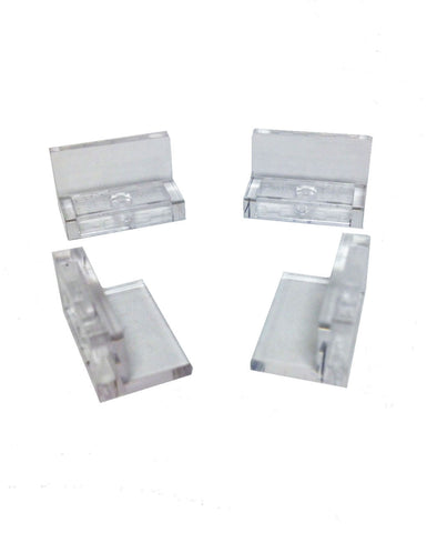 Lego Parts: Panel 1 x 2 x 1 (PACK of 4 - Transparent Clear)