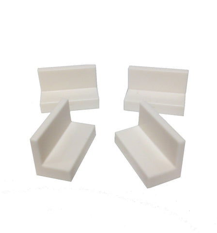 Lego Parts: Panel 1 x 2 x 1 (PACK of 4 - White)