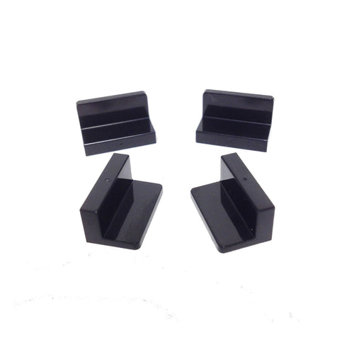 Lego Parts: Panel 1 x 2 x 1 with Rounded Corners (PACK of 4 - Black)