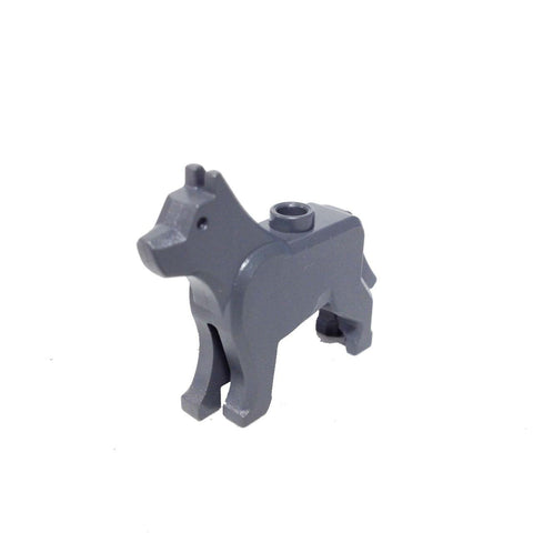 Lego Parts: Land Animal Dog / Wolf 'The Grim' (Dark Bluish Gray)