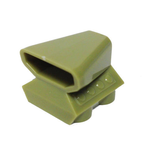Lego Parts: Vehicle, Air Scoop Top 2 x 2 (Olive Green)
