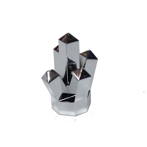 "Lego Parts: Rock 1 x 1 Crystal ""5 Point"" (Chrome Silver)"