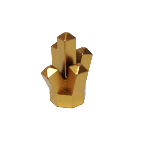 "Lego Parts: Rock 1 x 1 Crystal ""5 Point"" (Metallic Gold)"